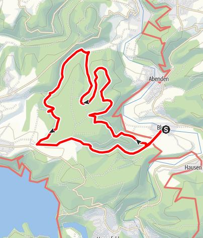 Karte / Durch das Kaldenbachtal