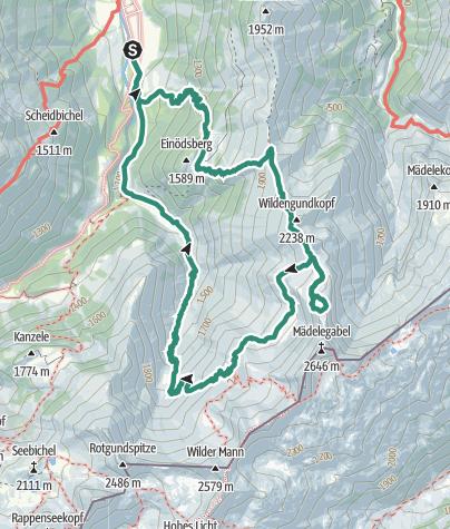 Karte / Trettachspitze Überschreitung