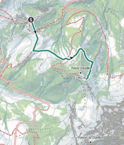 Carte / Randonnée planifiée le 7 octobre 2018