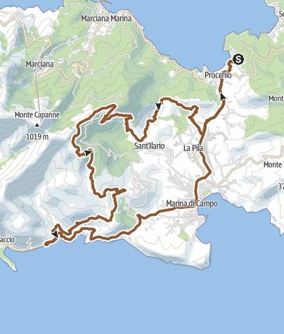 Procchio Elba Karte.Mtb Elba Procchio Mt Perone San Piero Seccheto Marina