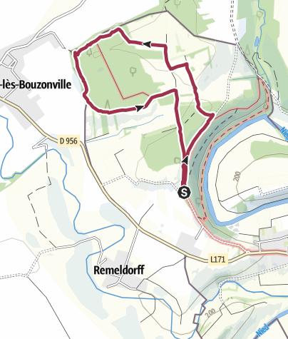 Map / Verkürzter Druidenpfad bei Niedaltdorf