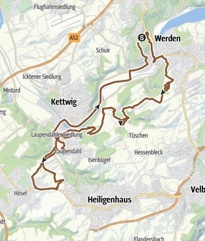 Karte / Bredeney-Heidhausen-Kettwig-Laupendahl-Trailtour