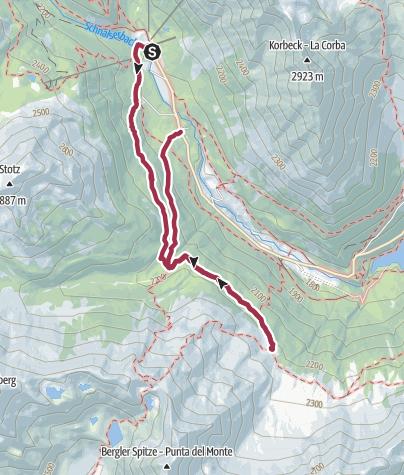 Map / Wanderung im Schnalstal