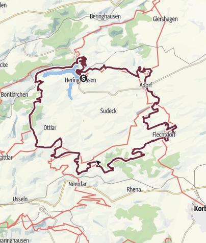 Karte / Diemelsteig (Qualitätswanderweg am Diemelsee 2018)