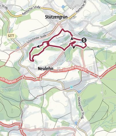 Karte / Bergwiesenlehrpfad bei Stützengrün