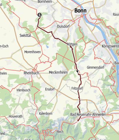 Mapa / Bornheimer Ahrweiler Wallfahrt 2019