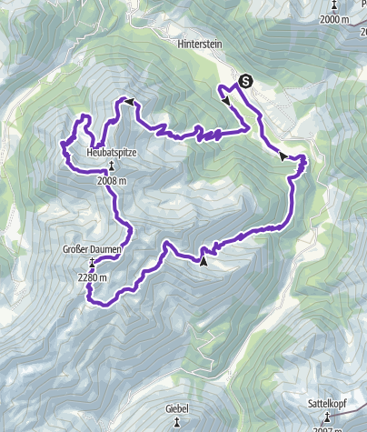 מפה / Trailrun Breitenberg-Daumen-Engeratsgundsee-Hinterstein