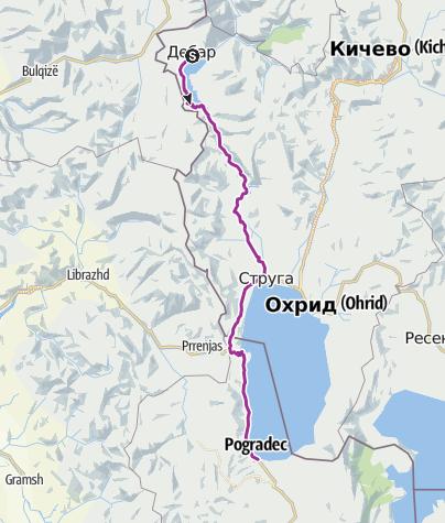 Térkép / Albanien - 5.Tag Debar nach Dobracek