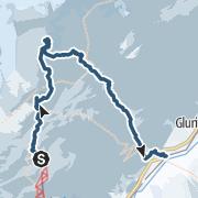 Karte / Wasenhorn Südgipfel mit Talabfahrt