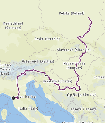 Map / Lucca to Warsaw_Autumn 2018