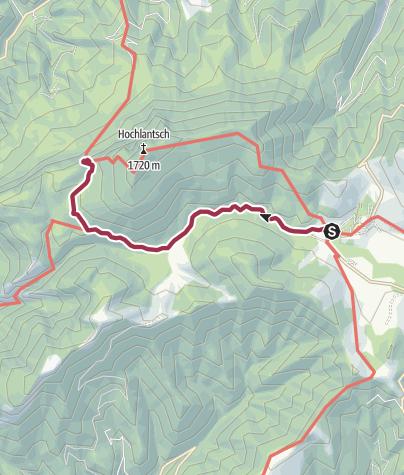 Karte / Teichalm - Schüsserlbrunn entlang des Mixnitzbaches