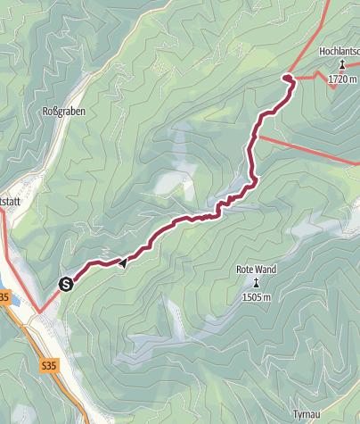 Karte / Mixnitz - Bärenschützklamm - Schüsserlbrunn