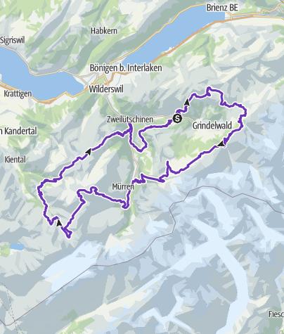 Karte / Schweiz 2019 (Tour II)