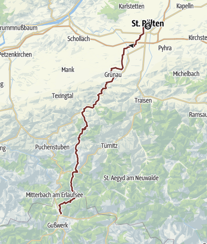 Karte / Pielachtaler Pilgerweg