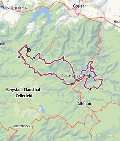 Map / Okerstausee Marathon, 08.11.2019, VP: km 24