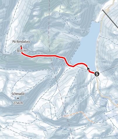 Karte / Piz Rondadura