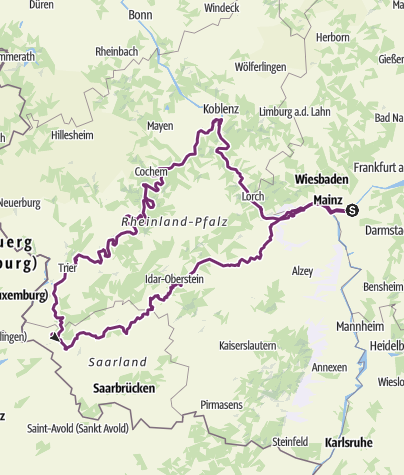 Karte / 2018 Rhein-Mosel-Saar-Nahe gefahren