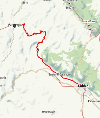 Karte / Graz - Rom 42 Pietralunga-Gubbio