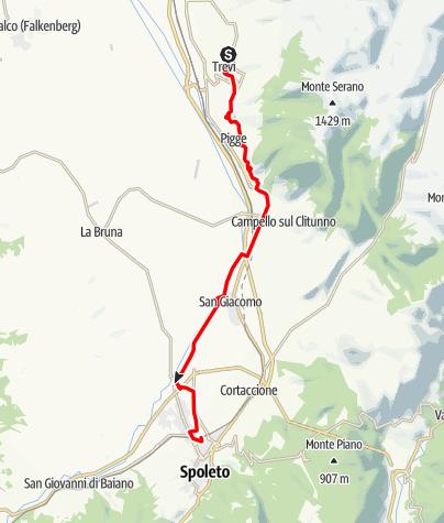Karte / Graz - Rom 46 Trevi-Spoleto
