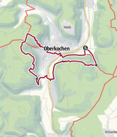 Cartina / Oberkochen - Rodstein - Volkmarsberg