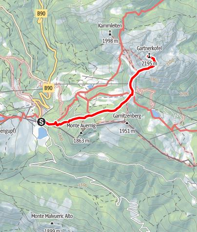 Karte / Gartnerkofel - Sonnenaufgangswanderung