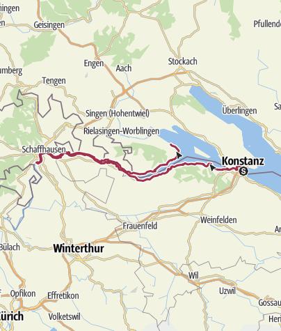 Karte / Erste Etappe Bodensee Friedensweg 2019