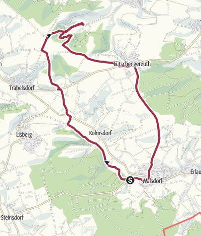 Karte / Rundweg Walsdorf - Viereth-Weiher