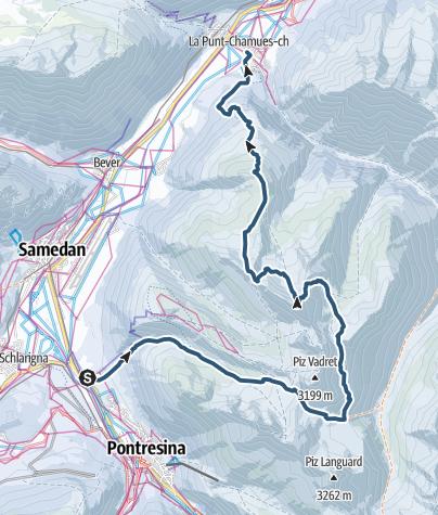 Karte / Crasta Burdun- Piz Utèr 2967 m