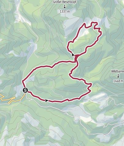 Karte / Herbstwanderung vom Tatzelwurm zum Hohen-Asten über den Bichlersee und Klamm-Alm