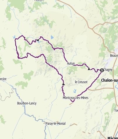 Karte / Rund um Burgund