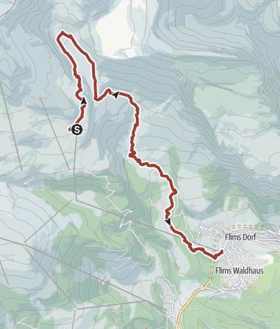 Mappa / 764 Trutg dil Flem, Flimser Wasserweg