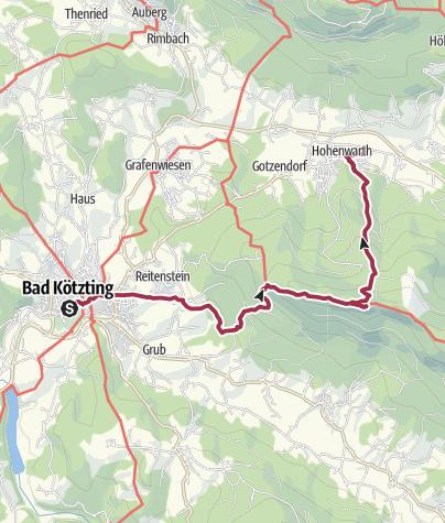 Karte / Oberpfalz Ost: Hohenwarth - Kaitersberg - Bad Kötzting
