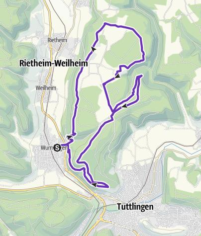 Karte / Rußberger Burgenweg Trail unter Freunden 23km
