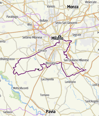 Cartina / Strada delle sette Abbazie -MI-