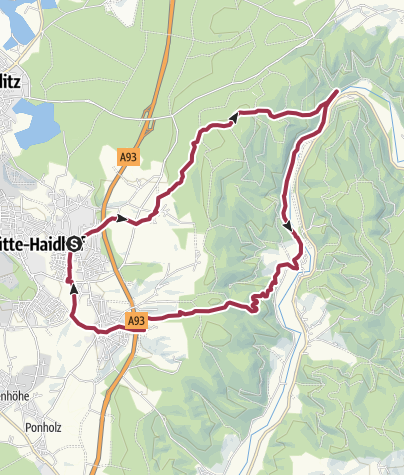 Karte / Maxhütte-Haidhof (Bhf) - Stockenfels - Hirschling - Leonberg - M-H (Bhf)