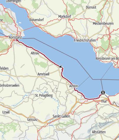 Karte / Vierte Etappe Bodensee Friedensweg 2019