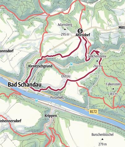 Map / Altendorfer Erkundungstour nach Bad Schandau