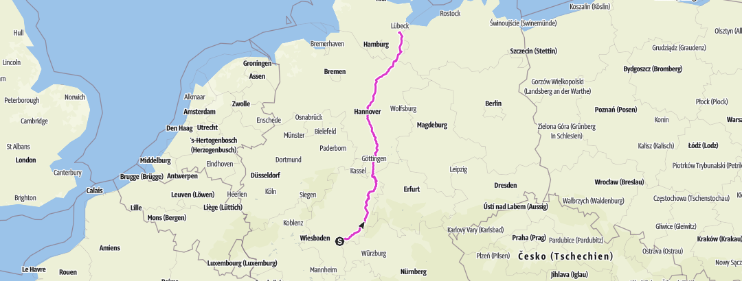 Map / Tourenplanung am 26. November 2018 HU HL