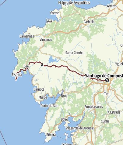 Camino Portugues Karte.Camino A Fisterra Santiago Finisterra Jakobsweg Pilgerweg