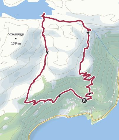 Map / Vikedalsnebbet - Die kleine Trolltunga