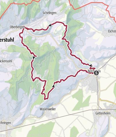 Karte / Kaiserstuhl - 12.01.2019