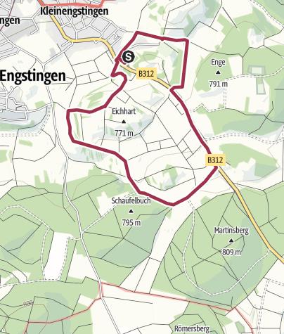 Karte / Kreisfeuerwehrwandertag 2019 - Kleine Strecke