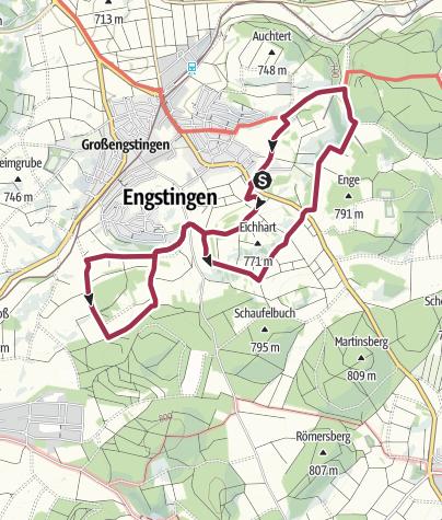 Karte / Kreisfeuerwehrwandertag 2019 - Große Strecke