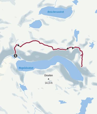 Karte / Zur Trolltunga (neue Wegführung seit 2014)