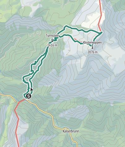 Karte / Über die Weichtalklamm auf den Hochschneeberg