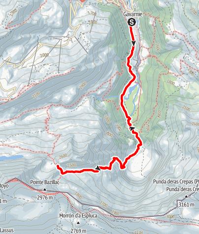 Karte / Sarradet-Hütte 2587m, Pyrenäen 3