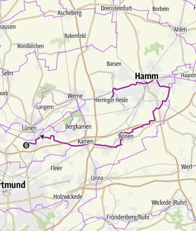 Karte / WPC Seseke Bönen/ Industriegebiet Channel ca. 48km