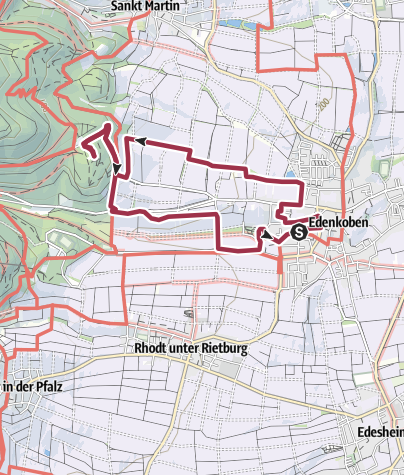 Karte / Großer Guggemolweg Edenkoben