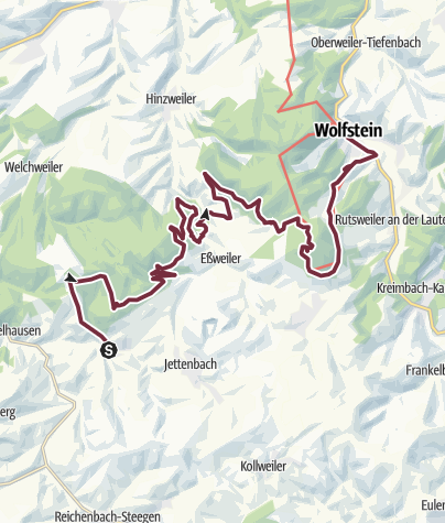 Karte / Remigius-Wanderweg - Etappe 3 (Bosenbach - Selberg oder Wolfstein)