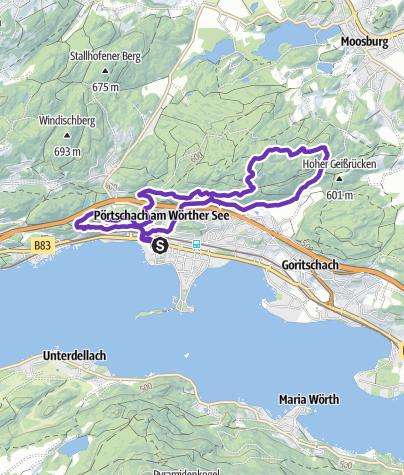 Karte / 10km AK Viertel Marathon Trail (AK ÖGB Trophy)